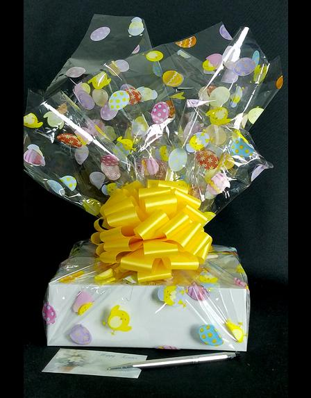 Medium Box - Easter Egg Cellophane - Yellow Bow - 18 Cookies and Brownies