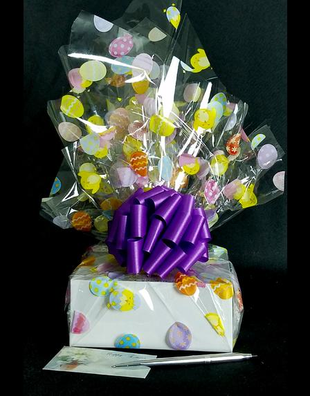 Small Box - Easter Egg Cellophane - Purple Bow - 12 Cookies and Brownies