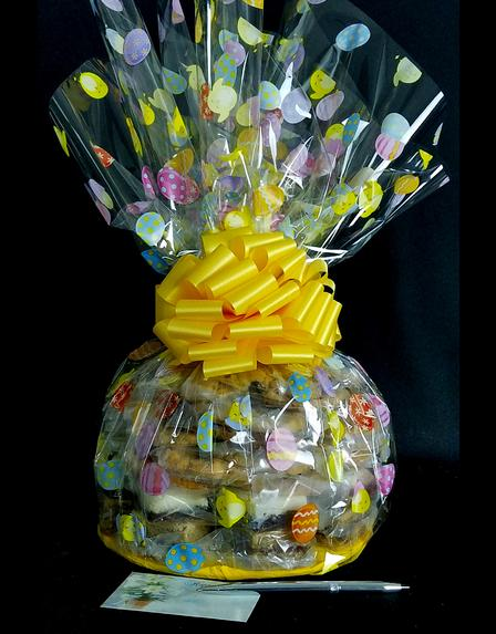 Super Cellophane - Easter Egg Cellophane - Yellow Bow - 42 Cookies and Brownies