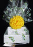 Large Tower - Daisy Cellophane - Yellow Bow - 36 Cookies and Brownies