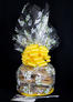 Medium Cellophane - Daisy Cellophane - Yellow Bow - 24 Cookies and Brownies