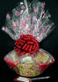 Large Basket - Heart Cellophane - Red Bow - 36 Cookies and Brownies