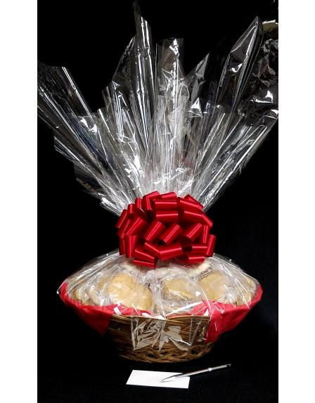 Super Basket - Clear Cellophane - Red Bow - 60 Cookies and Brownies