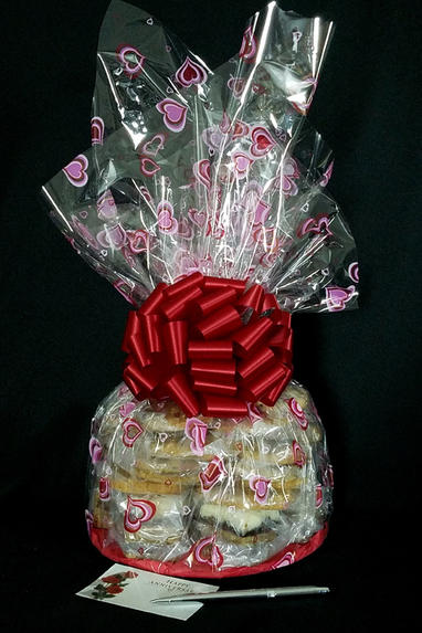 Super Cellophane - Heart Cellophane - Red Bow - 42 Cookies and Brownies